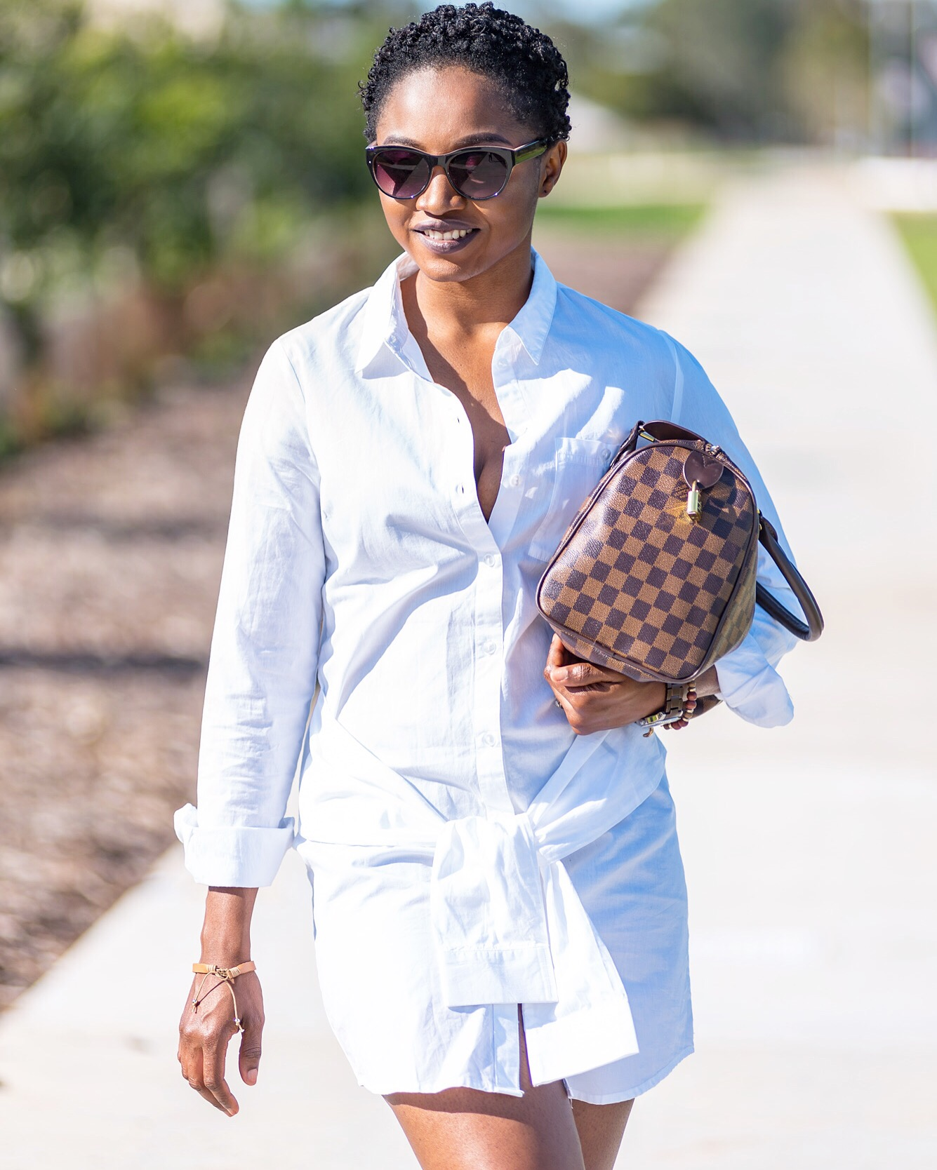 Frontal sleeves shirt dress