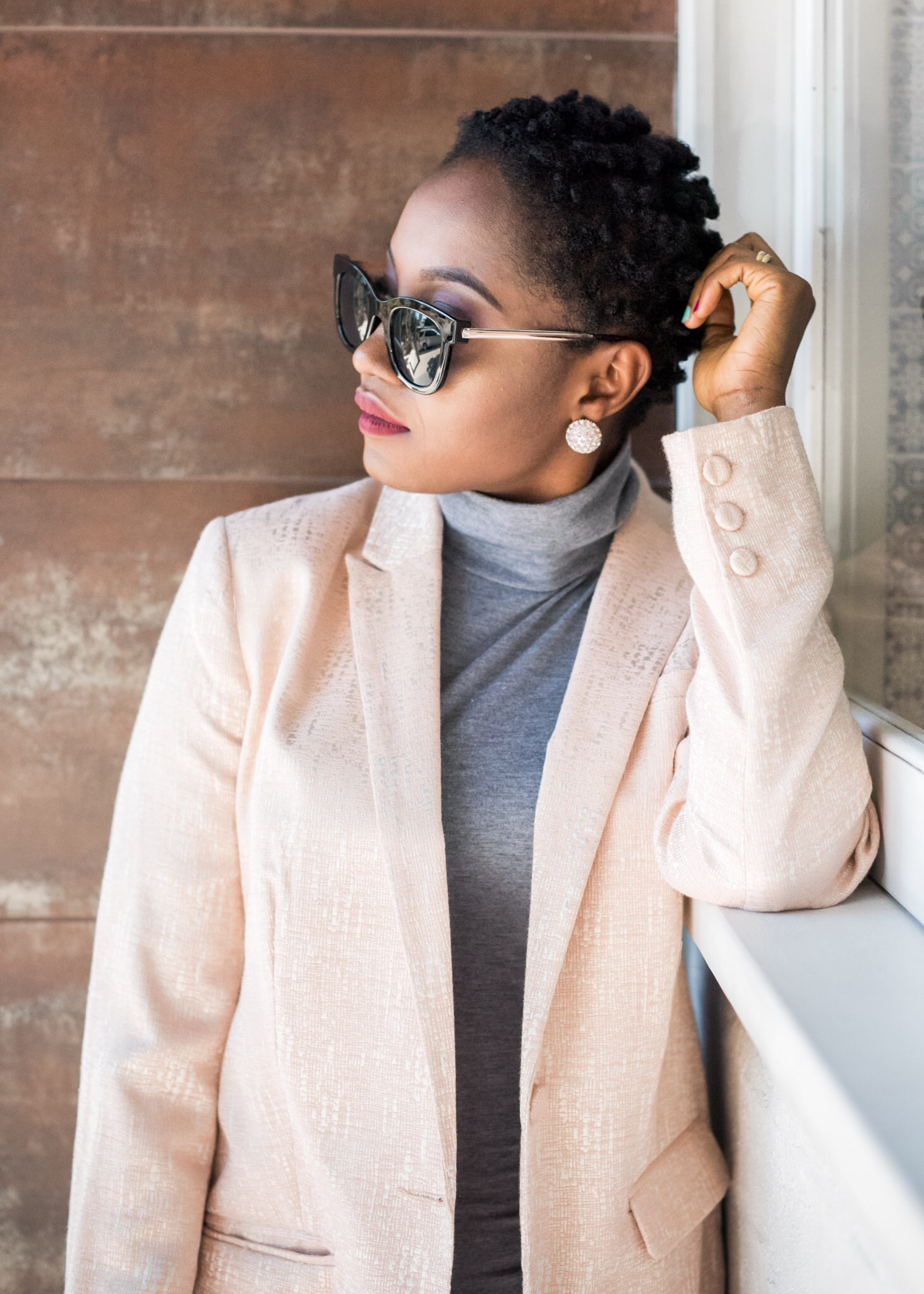 Grey turtleneck dress ….3 ways… Part 1