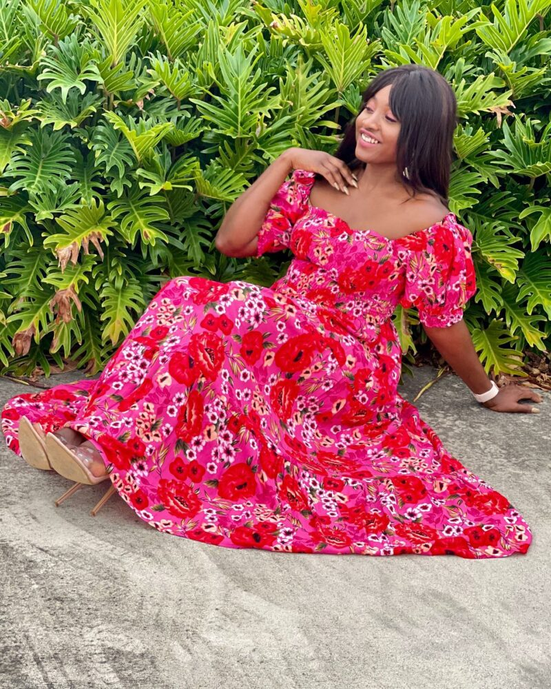 Little Party Dress COCO PINK FLORAL MAXI DRESS